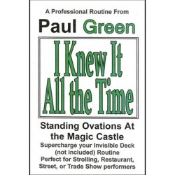 I Knew It All The Time by Paul Green n