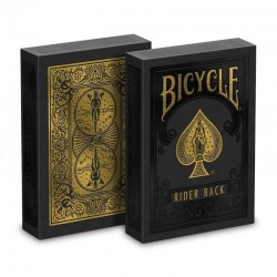 Bicycle - Black and Gold Rider Back Playing Cards