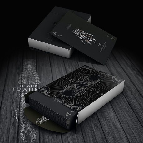Trauma Black Playing Cards