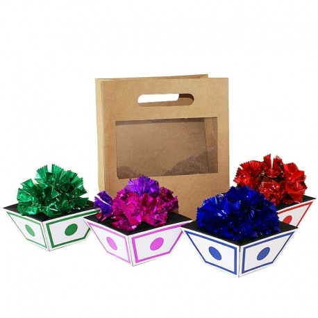 Appearing Flower Pots from Bag