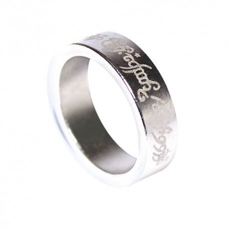 Magnetic Ring - Silver - Letters