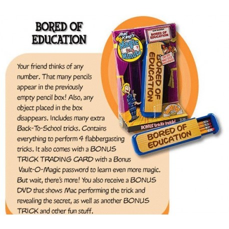 Bored Of Education With DVD by Mac Kings