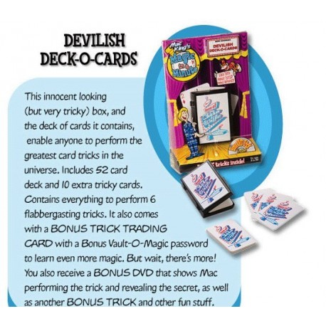 Devilish Deck-O-Cards With DVD by Mac Kings